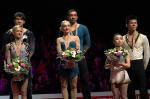 Photo of the Pairs Podium